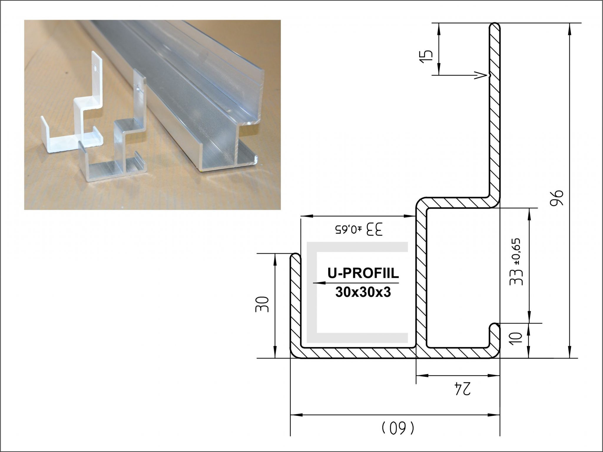 Mounting profile for channel letters